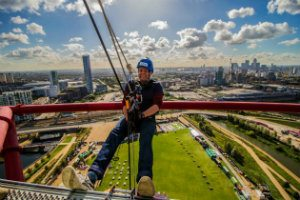 UK's highest freefall abseil